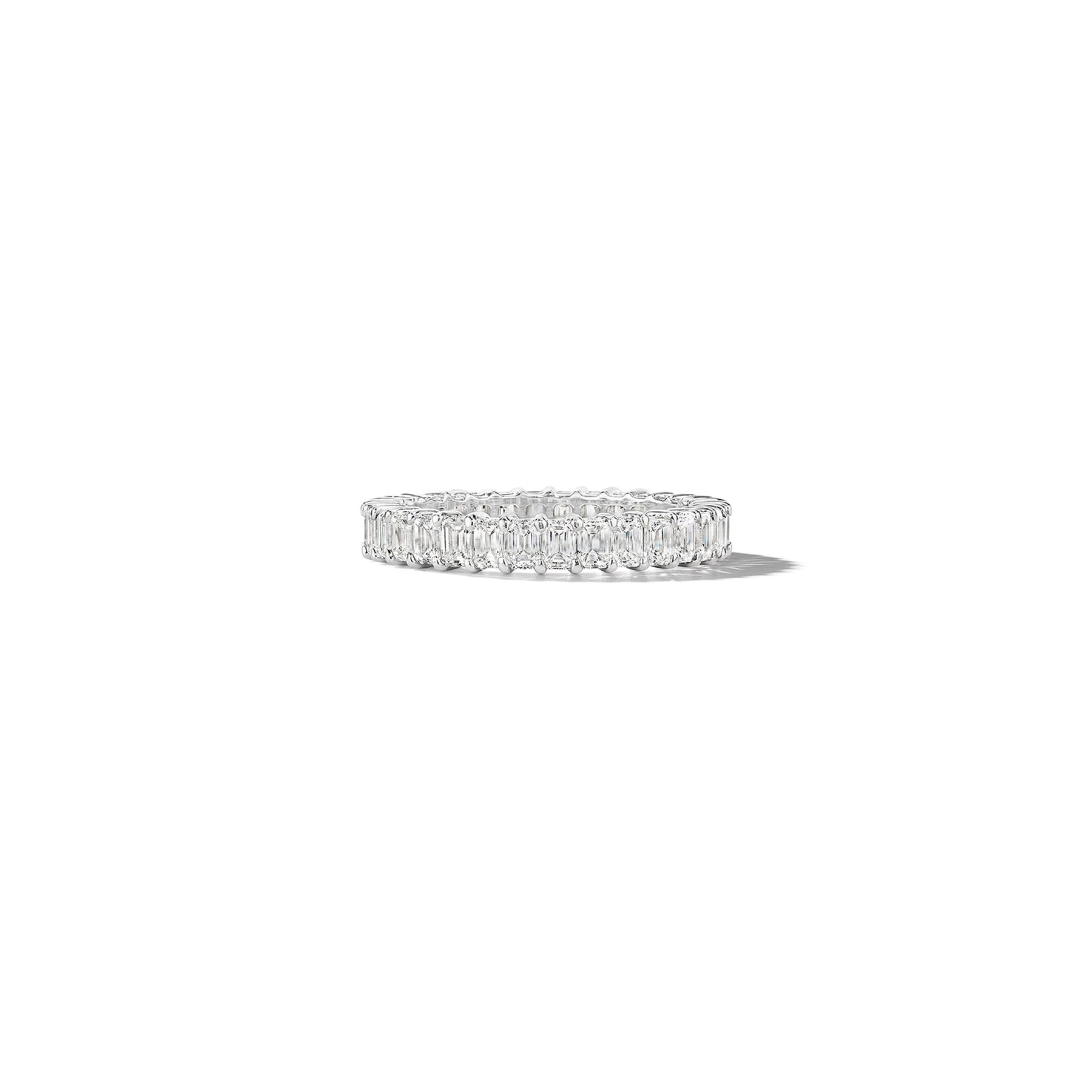 Radiant Cut Diamond Eternity Ring_Platinum