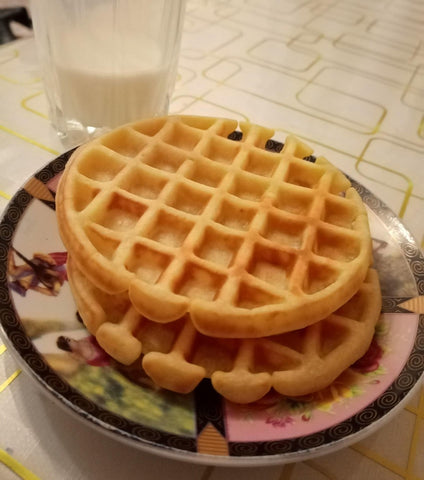 homemade waffles with isottcom waffle maker