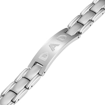 Willis Judd Mens Titanium DAD Bracelet Engraved Love You Dad with Gift Box & Link Removal Tool