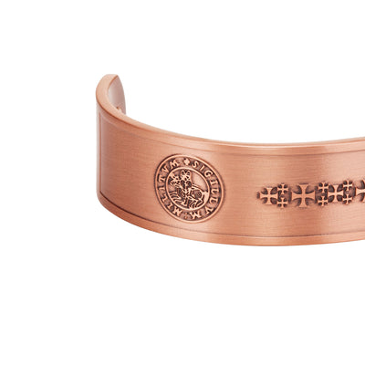 Men's Knights Templar Pure Copper Bangle Bracelet