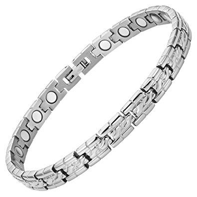 Ladies Honey Comb Titanium Magnetic Bracelet