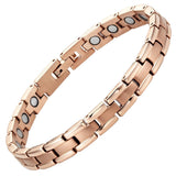 Ladies Rose Gold Tone Titanium Magnetic Bracelet