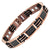 Men's Black Carbon Fibre Two Tone Titanium Magnetic Bracelet
