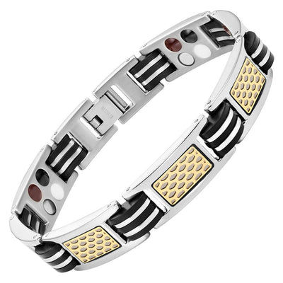 Mens Extra Strong 4 Element Magnetic Titanium Bracelet