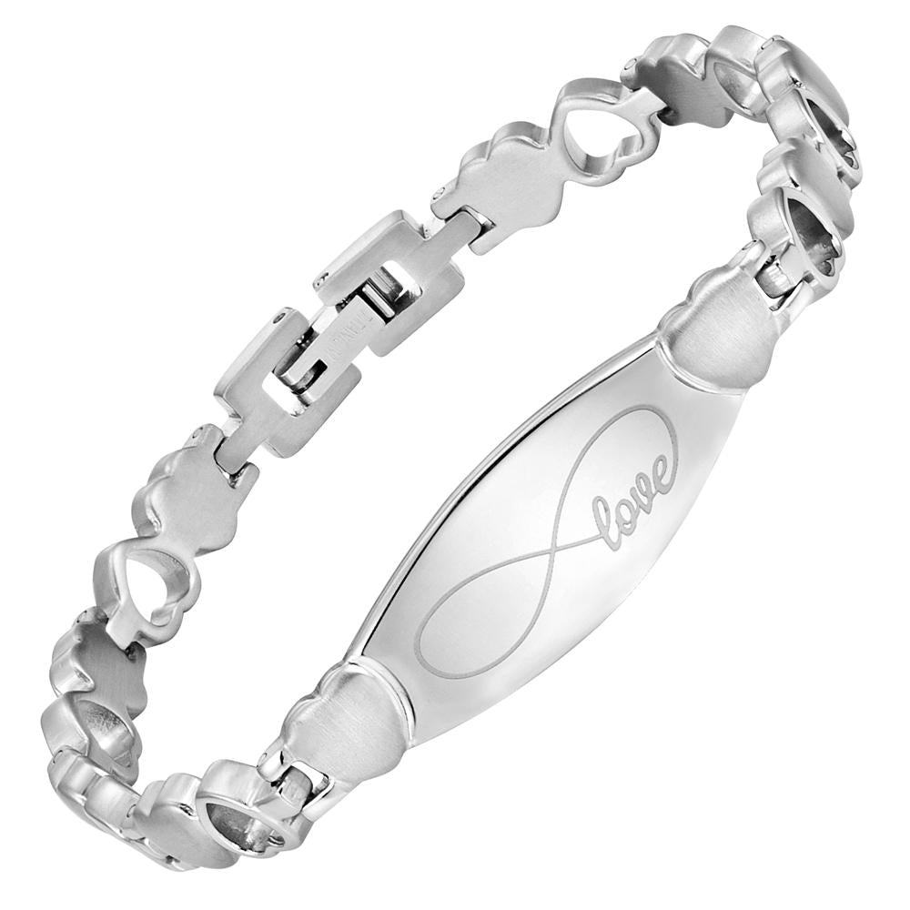 Ladies Infinity Love Titanium Bracelet