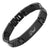 DAD Black Titanium Bracelet Featuring Black Carbon Fiber Engraved Love You Dad