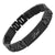 DAD Titanium Bracelet Featuring Black Carbon Fiber Engraved Best Dad Ever