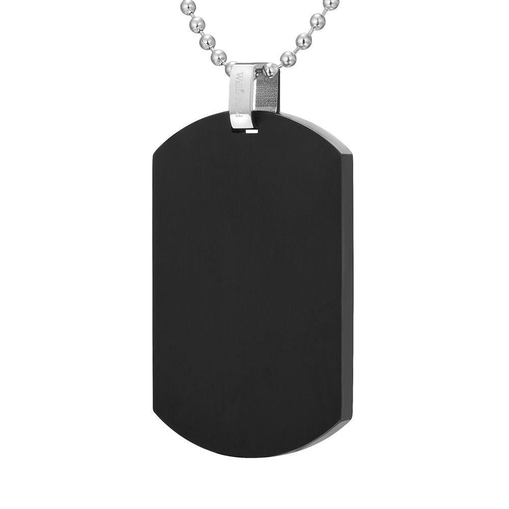 "Willis Judd Mens Camouflage Stainless Steel Pendant In Black with 22"" Necklace and Gift Pouch 1"