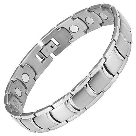 Mens Titanium Double Row Magnetic Bracelet