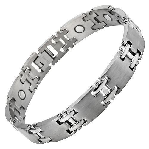 New Mens Titanium Magnetic Bracelet with Free Adjuster and Gift Box - TB88