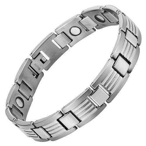 New Mens Titanium Magnetic Bracelet Free Adjuster and Gift Box
