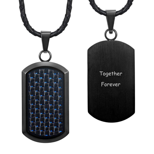 Willis Judd New Mens Black Stainless Steel Dog Tag Pendant Engraved Together ...