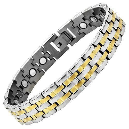 New Mens Titanium Magnetic Bracelet with Free Adjuster and Gift Box - TB52