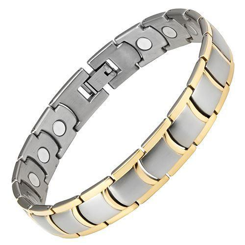 New Mens Titanium Magnetic Bracelet with Free Adjuster and Gift Box