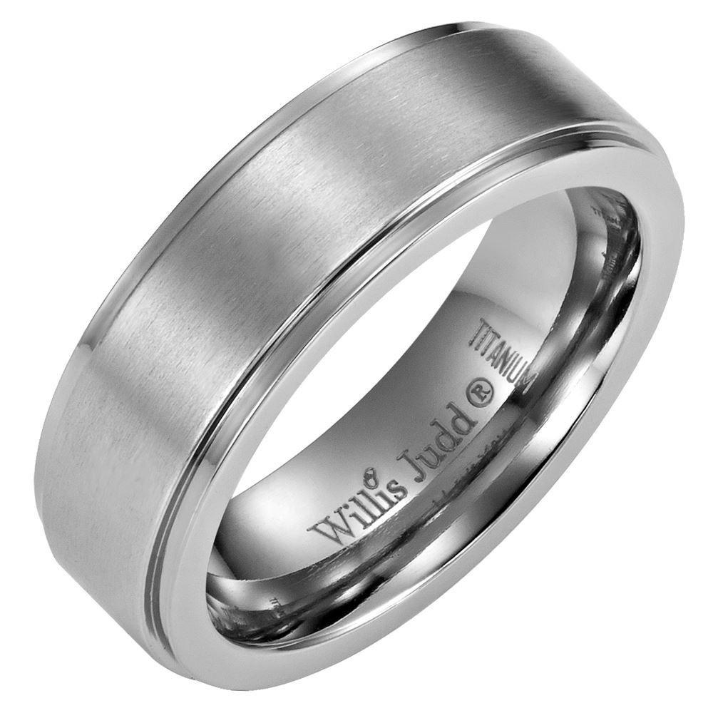 DAD Titanium Ring 7mm Engraved Love You Dad