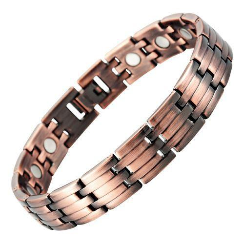 New Mens Titanium in Copper colour, Magnetic Bracelet Free Adjuster Gift Box