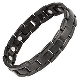New Mens All Black Titanium Magnetic Bracelet + Free Adjuster and Gift Box - TB71