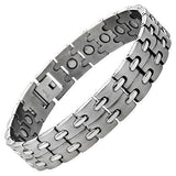 New Mens Titanium Magnetic Bracelet with Free Adjuster and Gift Box - TB86