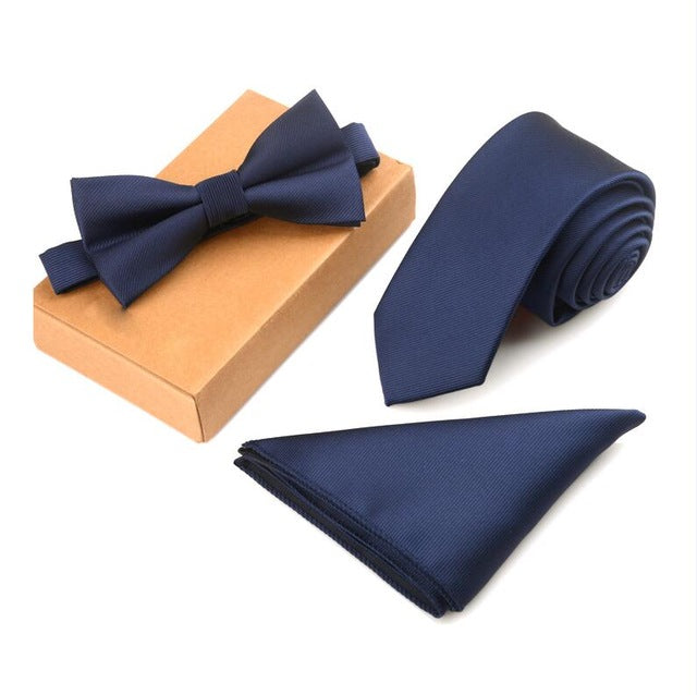 Premium Bow Tie, Pocket Square and Tie set