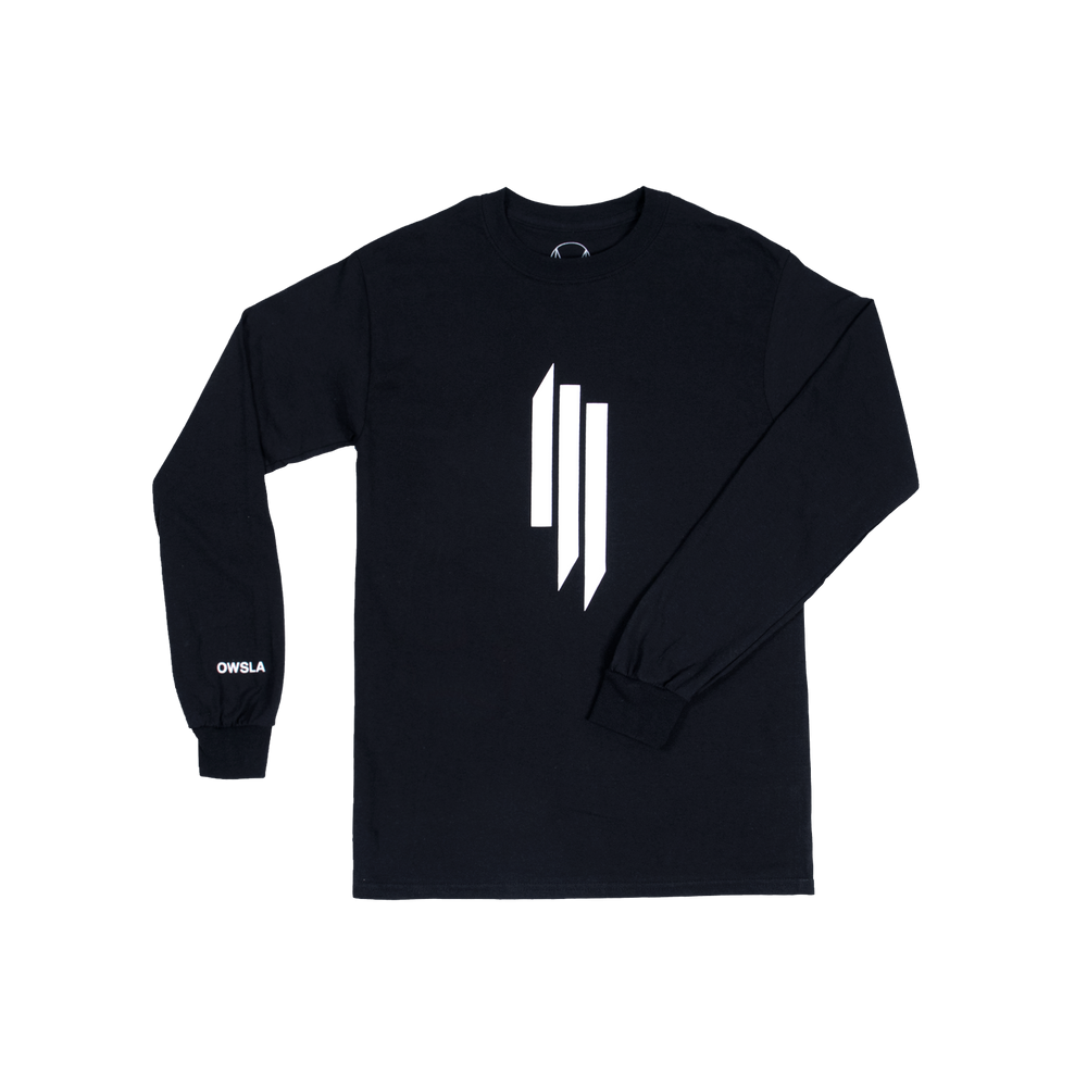 0417f1d555659 SKRILLEX LOGO LONG SLEEVE - BLACK