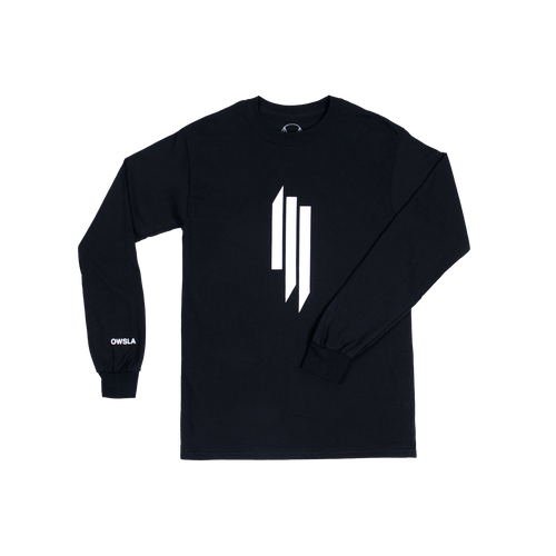 SKRILLEX LOGO LONG SLEEVE - BLACK