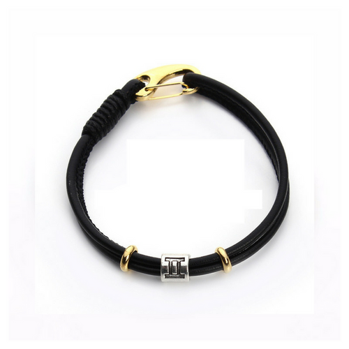 Gemini Simple Zodiac Leather Bracelet