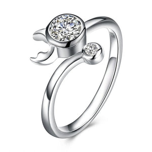 Taurus Adjustable Silver .925 Ring