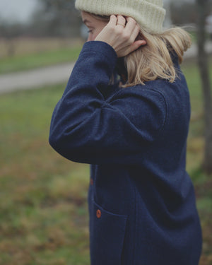 Heavy Felt Jacket - Navy