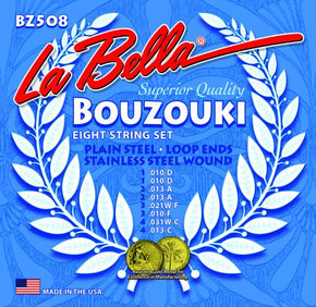 La Bella BZ508 Stainless Steel BOUZOUKI Strings, Custom