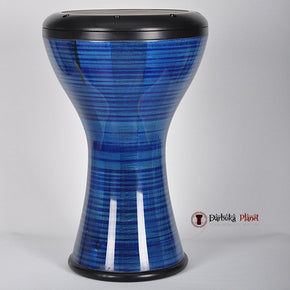 The HUBB Solo Wooden Darbuka Nubis Blue/Black