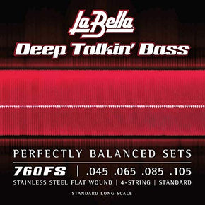 La Bella 760FS Stainless Steel Bass Guitar Strings, -Standard Tension