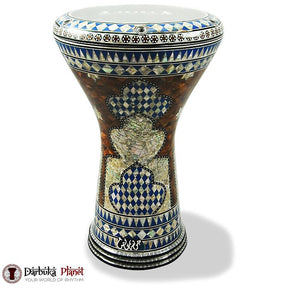 "The Blue Shield Gawharet El Fan 17"" Mother of Pearl Darbuka"