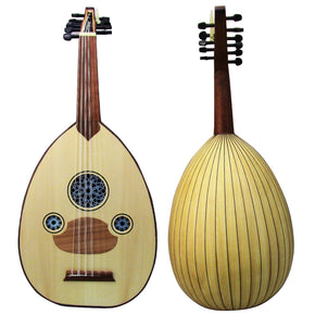 "Amazing!! Beginner Turkish Oud ""The Turkish Butterfly "" + Soft Case - Cat#166C-Matt Finish - White"