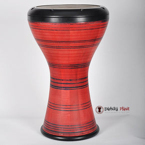 The HUBB Solo Wooden Darbuka Nubis Orange/Black