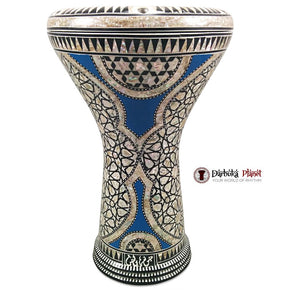 "The Blue Spider Gawharet El Fan 17"" Mother of Pearl Darbuka"
