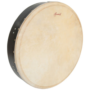 Roosebeck Tunable Mulberry Bodhran Single-Bar 18-by-3.5-Inch - Black