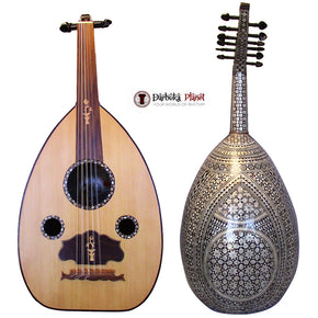 "El-Masry ""Golden Star"" Professional Egyptian Pearl Oud + Soft Case - Cat#M203 -Blemish"