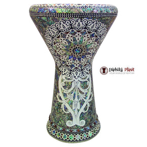 "The White Sun NG 2.0 Sombaty Gawharet El Fan 18.5"" Darbuka With Real Green Mother of Pearl"