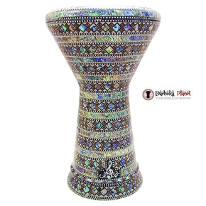 "The Arabian Ring NG 2.0 Sombaty Gawharet El Fan 18.5"" Darbuka With Real Green Mother of Pearl"