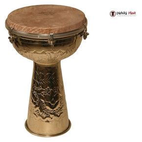 "Turkish 8"" X 14"" Metal Doumbek with Skyndeep Head and Internal Jingles"