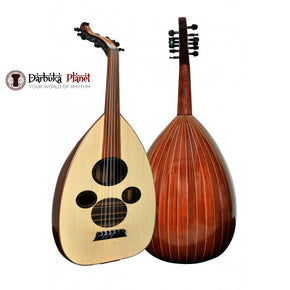 "Professional Arabic Mahogany Oud ""The Arabian Spirit "" Cat#AU1-MA with Soft carry case - Blemish"