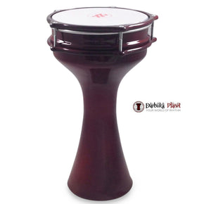 Zaza Percussion 16''  Turkish Aluminum Red Wine Darbuka Doumbek, Synthetic Head