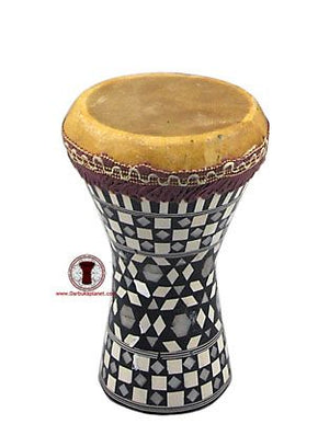 8'' Egyptian Wooden Darbuka Drum