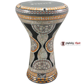 The 17'' Black Sultan Egyptian Gawharet El Fan Darbuka Doumbek