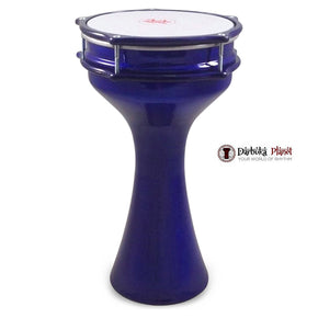 Zaza Percussion 16''  Turkish Aluminum Blue Darbuka Doumbek, Synthetic Head