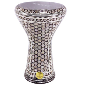 The 17'' Egyptian Legend Mother of pearl Gawharet El Fan Darbuka Doumbek