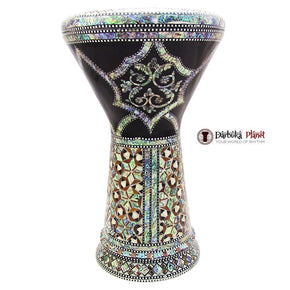 "The Black Flower NG 2.0 Sombaty Gawharet El Fan 18.5"" Darbuka With Real Green Mother of Pearl"