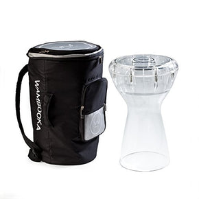 Wambooka Diamond Clear Darbuka Dry-Wet Hand Drum with Carrying Bag