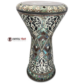 "The New Generation 2.0 Gawharet El Fan & ZAZA Percussion Joint Vrnture ""Green Python"" Darbuka Doumbek With Real Green Pearl ("