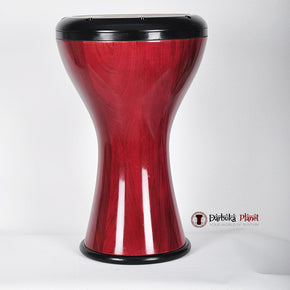 The HUBB Solo Wooden Darbuka Red Rose
